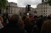 entering Trafalgar Square