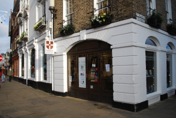The Cambridge University Press Bookshop - the oldest bookshop site in the country. Books have been sold here since at least 1581.