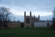 the riverside view on King's College and the Chapel, Cambridge