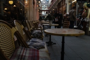 Castle Arcade, Cardiff (warm blankets on the chairs, how thoughtful!)