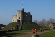 and that's Cardiff Castle... quite small.