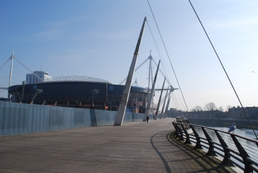 Millennium Stadium by the River Taff, Cardiff