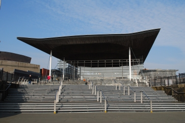 Senedd / National Assembly for Wales designed by Richard Rogers, Cardiff Bay