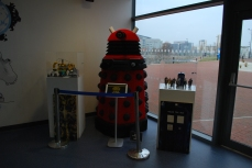 Dr Who Experience, Dalek made of Lego blocks, Cardiff Bay