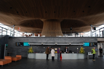 inside the National Assembly, Cardiff Bay