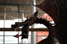 Welsh Dragon at the Senedd