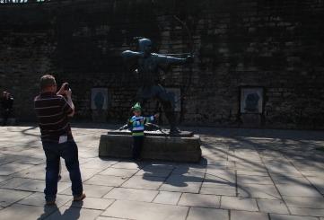 Robin Hood Statue with little 'Robin', Nottingham