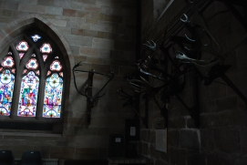 the reindeer horns, St Nicolas Church, Abbots Bromley