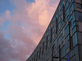 pretty clouds after the rain over Greenwich