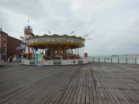 Caroussel on Brighton Pier. To be honest, I was surprised to see a funfair on a pier. Is this only in the UK?
