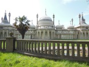 The Royal Pavilion - the view from Pavilion Parade, Brighton