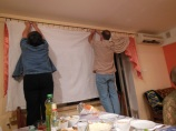 building the screen for the projector