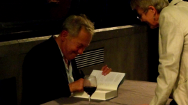 after the talk - Simon Schama signing his new book