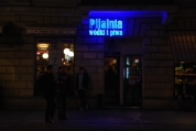 There are chocolate lounges and... vodka and beer lounges. 'pijalnia' means 'drinking place'. Nowy Swiat, Warsaw