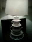 very cool lamp in a tea room