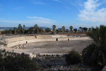 Ruins of Roman amphitheatre in Bet She'an