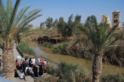 Baptismal Site Qaser El Yahud. Israel on the left, Jordan on the right
