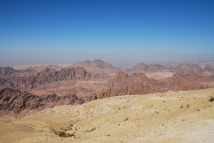 The view on Jabal Haroun, Aaron's Mountain with Aaron's Tomb on top from the King's Highway