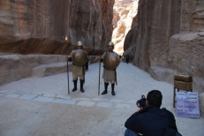Canyon guards, Petra